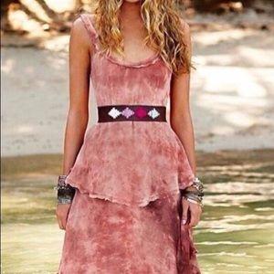 Free People New Romantics Hippie Trip Tiered Dress